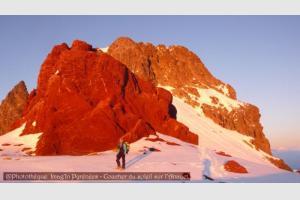 Soleil rouge à l'Anayet