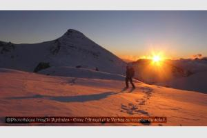 coucher de soleil à l'Anayet