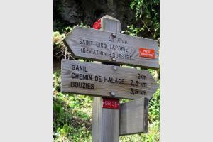 Randonnée Saint Cirq Lapopie jusqu'à Bouziès par le chemin de halage