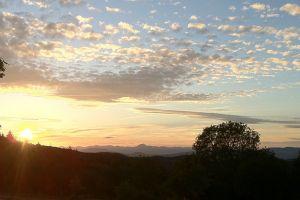 Coucher de soleil sur le Puy de Dôme