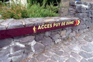 Accès au Puy de Dôme