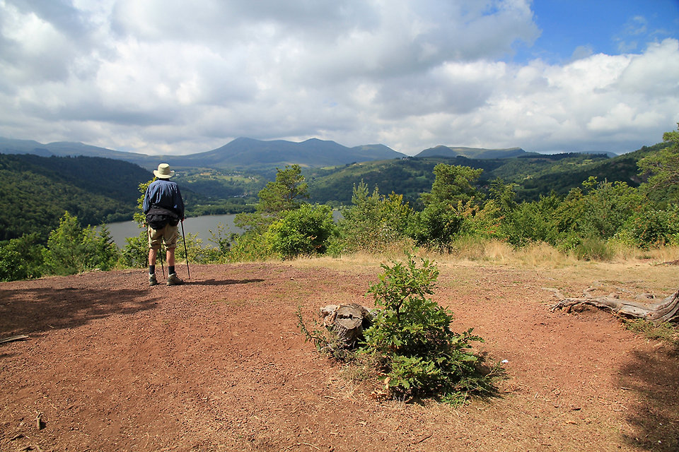 Panorama sur le lac Chambon