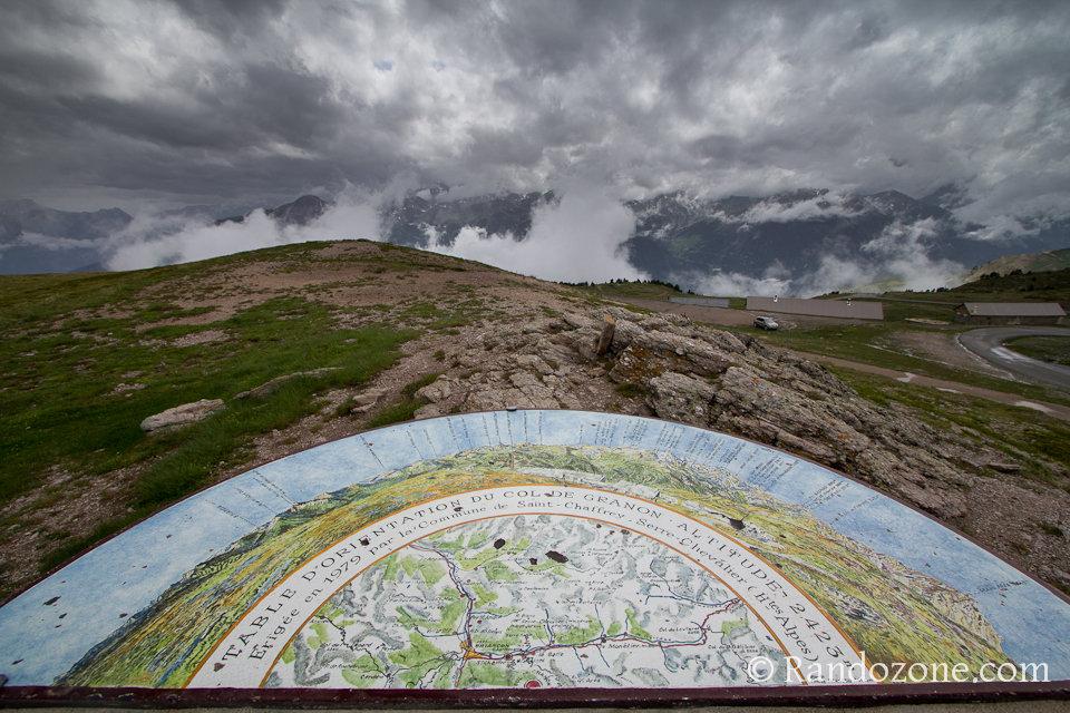 Table d'orientation du col de Granon 2423 m