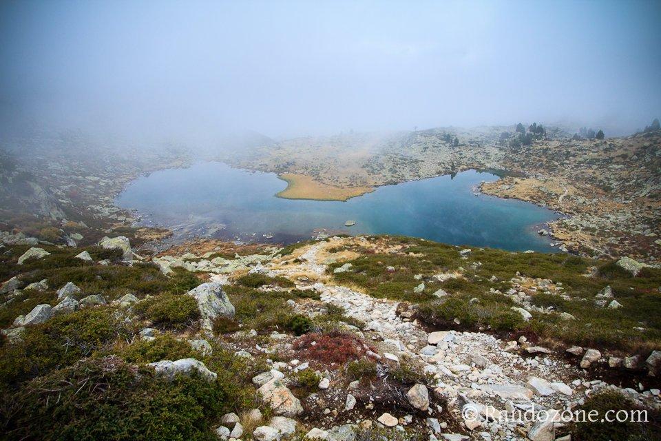 Lac Blanc au dessus dets Coubous