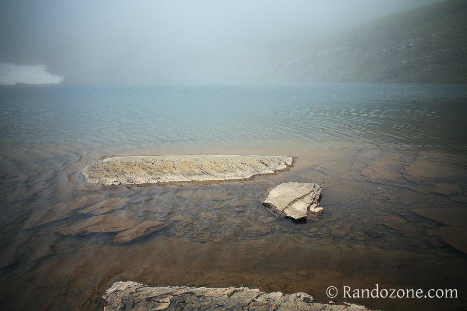 Mauvais temps sur le lac des Especières