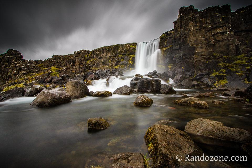 Cascade d'Öxarárfoss en Islande