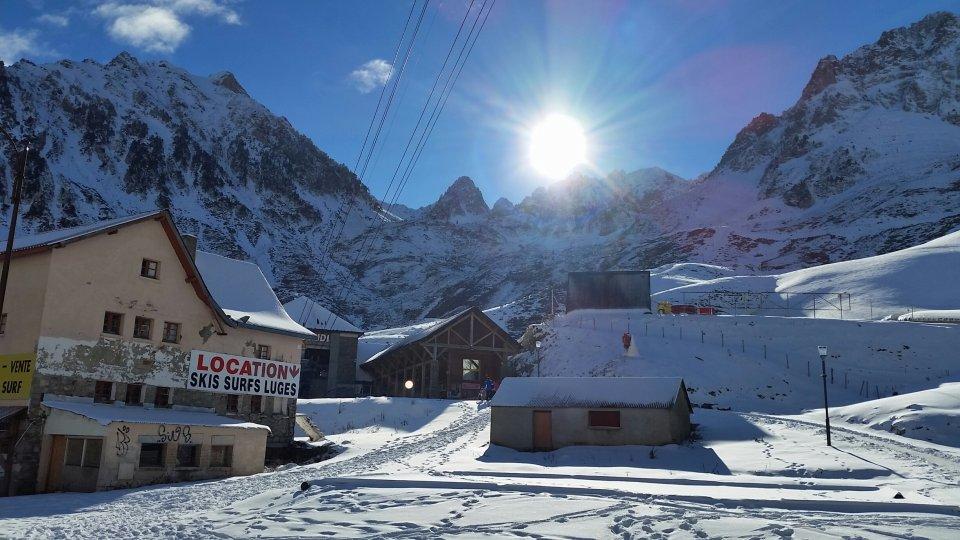 La Mongie entre neige et soleil