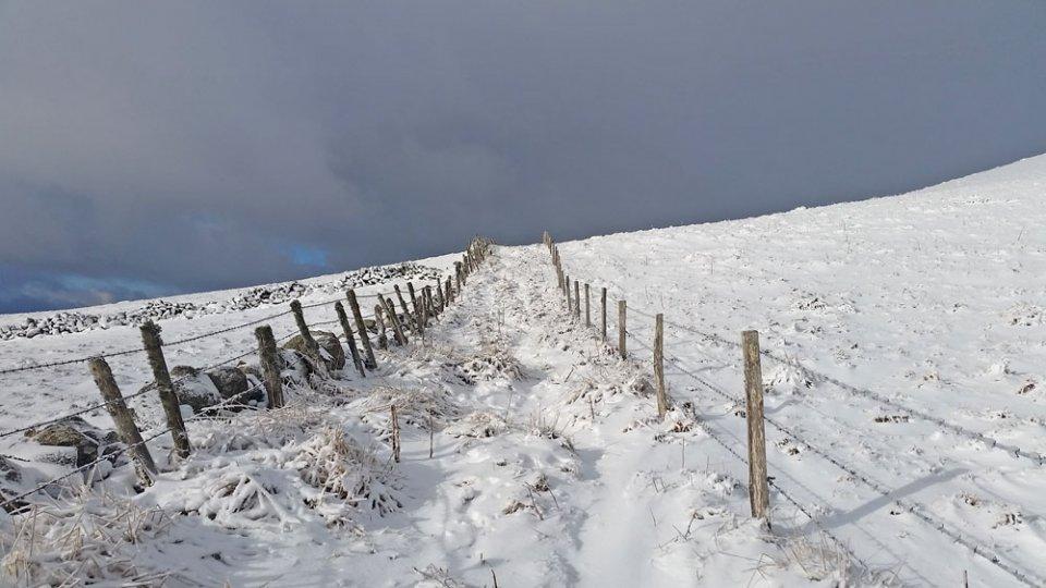 Draille recouverte de neige