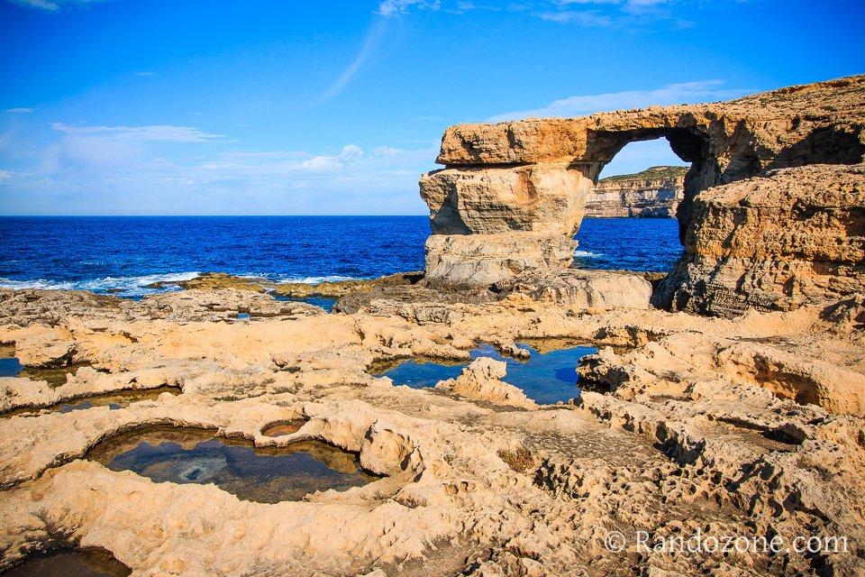 Fenêtre d'Azur sur l'île de Malte