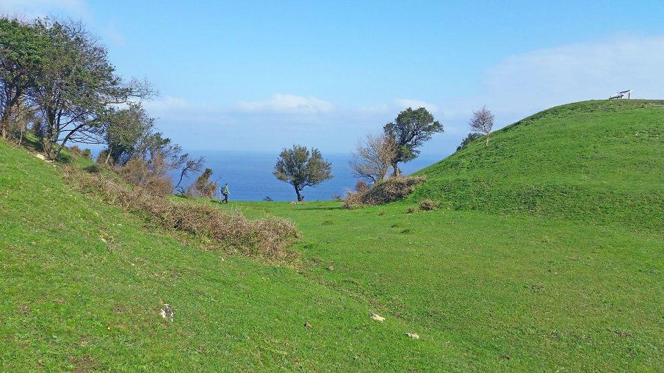 Entre terre et mer, bleu et vert