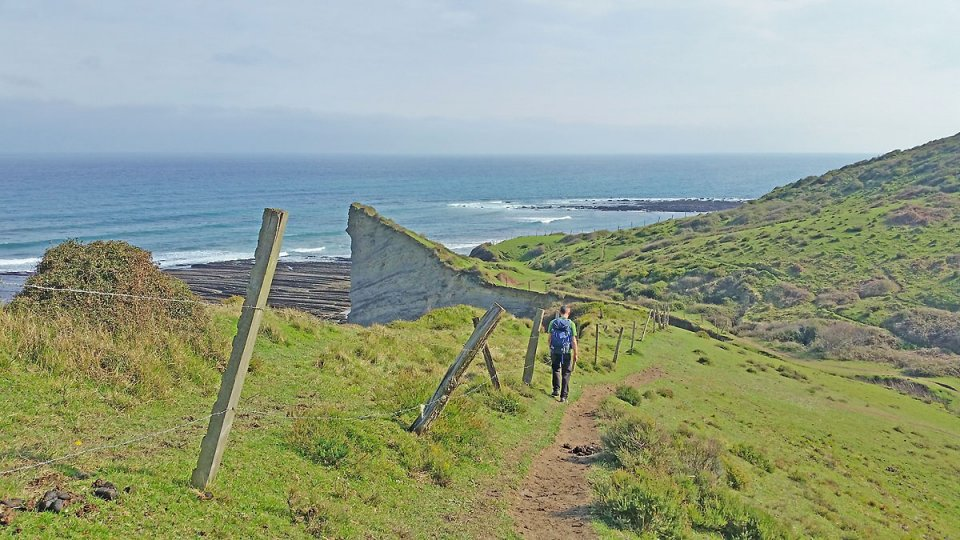 On longe la superbe côte basque espagnole