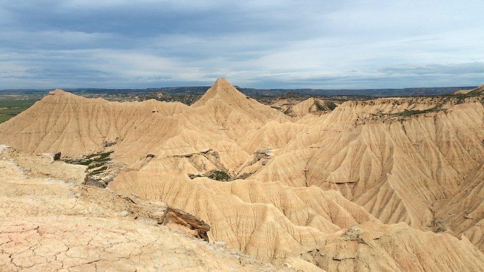 Rayon de soleil sur le désert des Bardenas