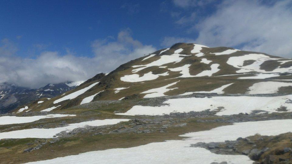 Vue sur le Pic de Tentes durant la randonnée