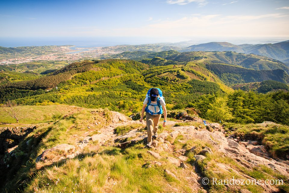 Superbe panorama sur le Pays Basque