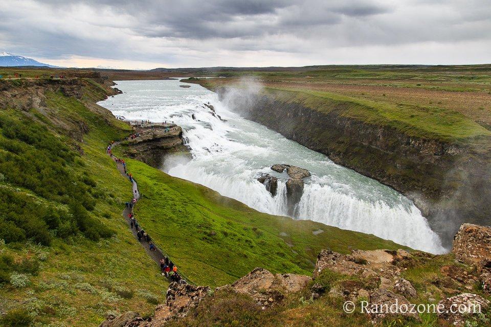 Au dessus de la cascade de Gullfoss