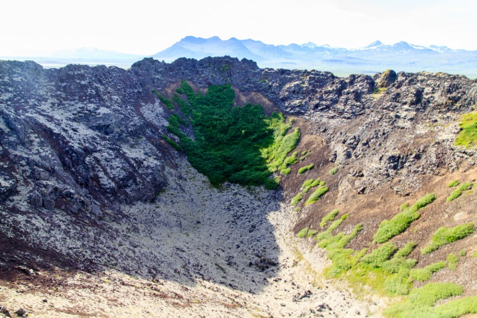 Intérieur du cratère