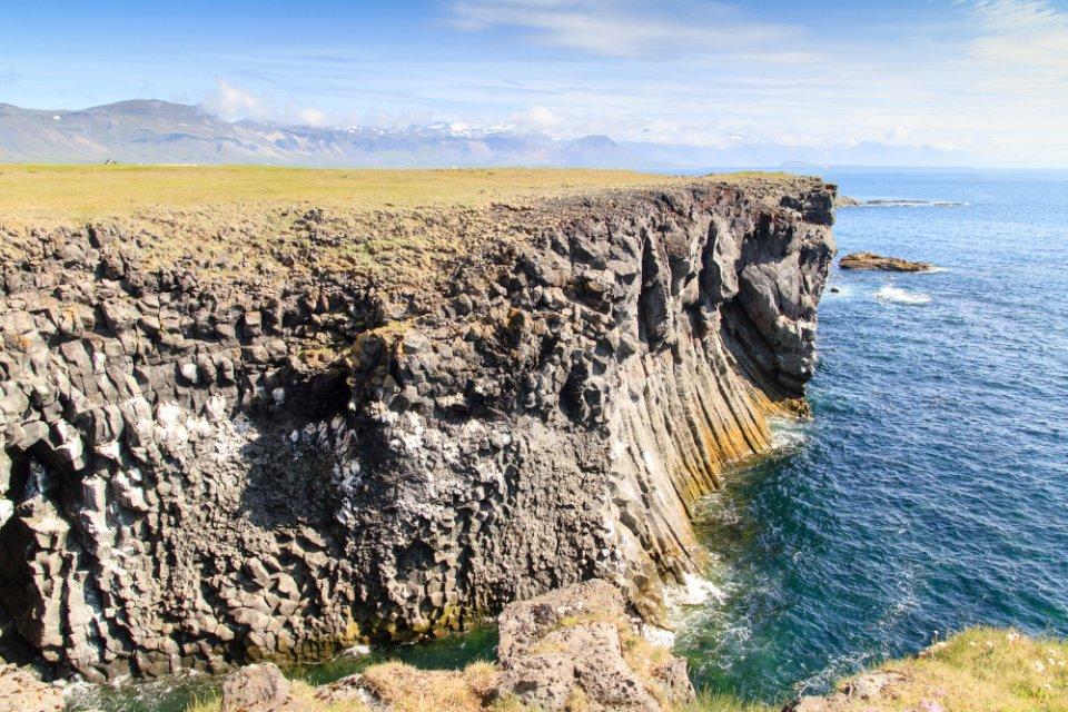 Falaises en Islande