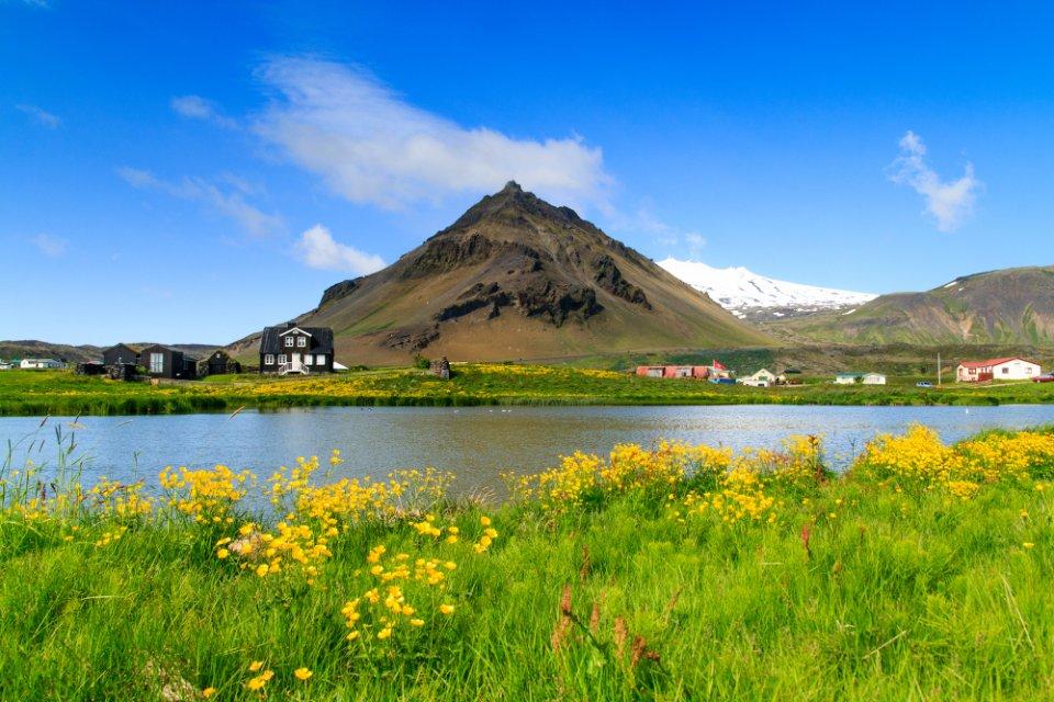 Arnarstapi, au pied du glacier-volcan