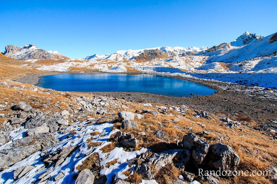 Premières neiges au lac Merlet inférieur