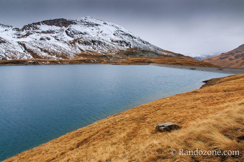 Barrage et lac de la Sassière