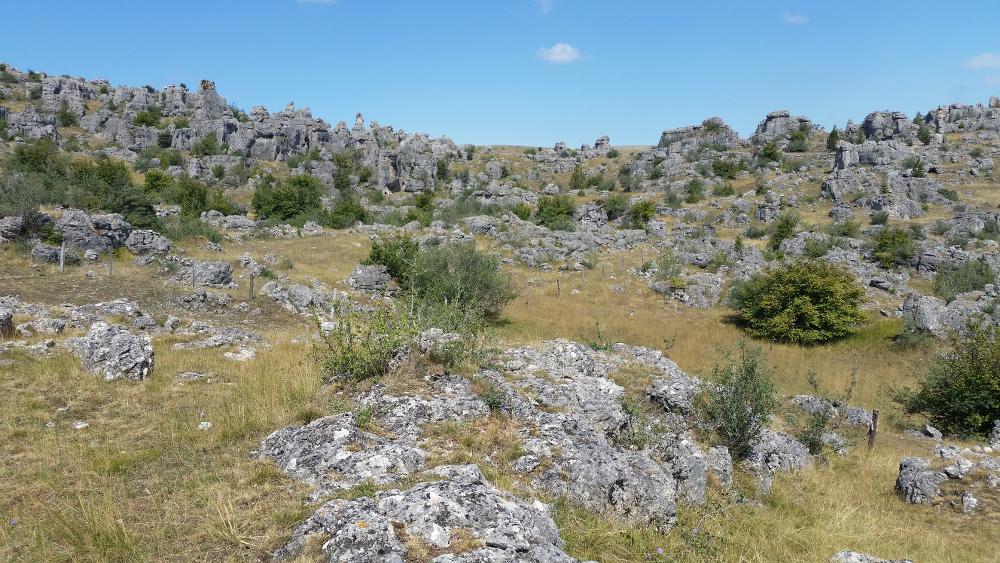 Chaos rocheux sur le plateau