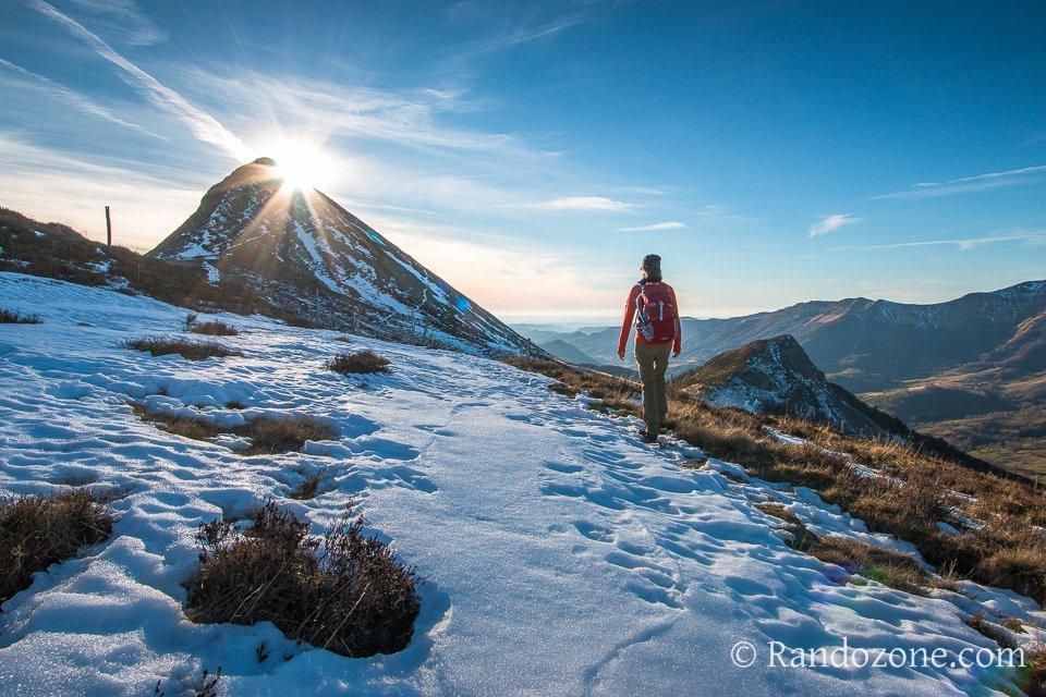 Soleil d'hiver sur le Puy Griou