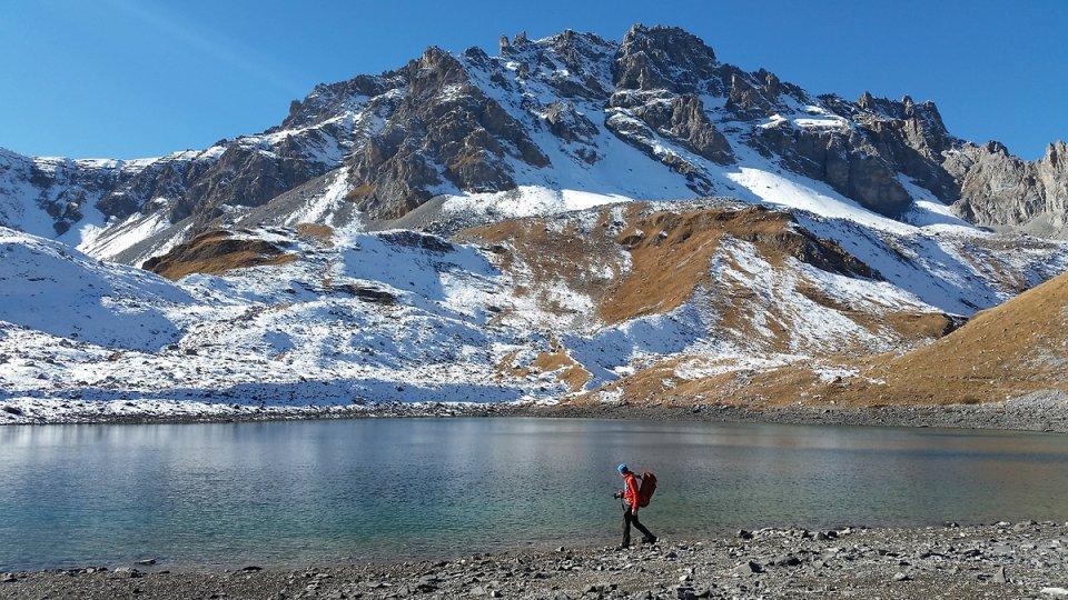 Au bord du lac Merlet inférieur