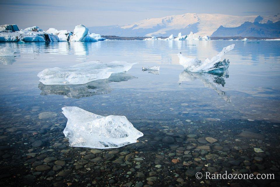 Blocs de glace sur Jokulsarlon
