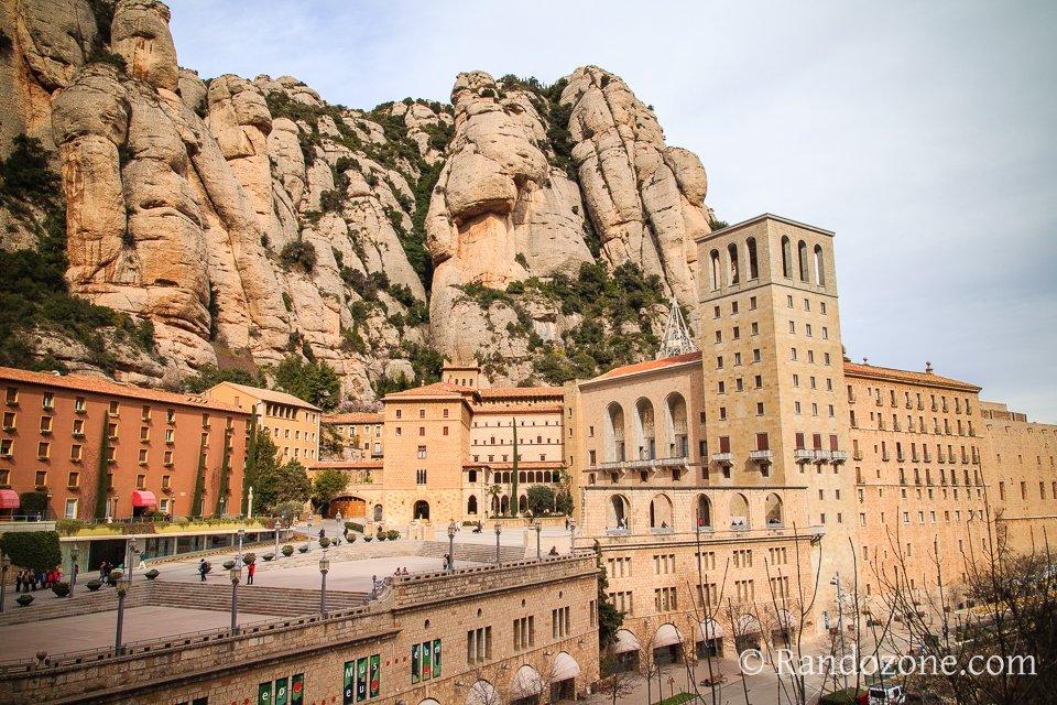 Le monastère depuis le funiculaire