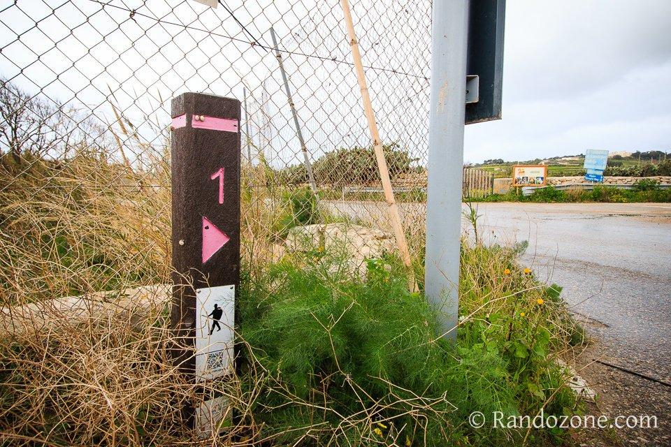 Balisage des itinéraires de rando à Malte