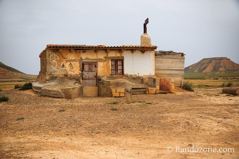 Cabane  de Pancho dans les Bardenas