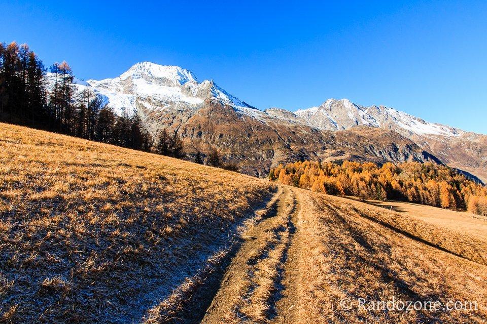 Superbe panorama sur les sommets enneigés de Vanoise