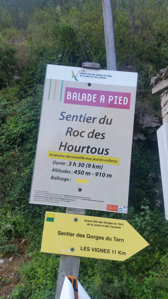 Sentier Roc des Hourtous