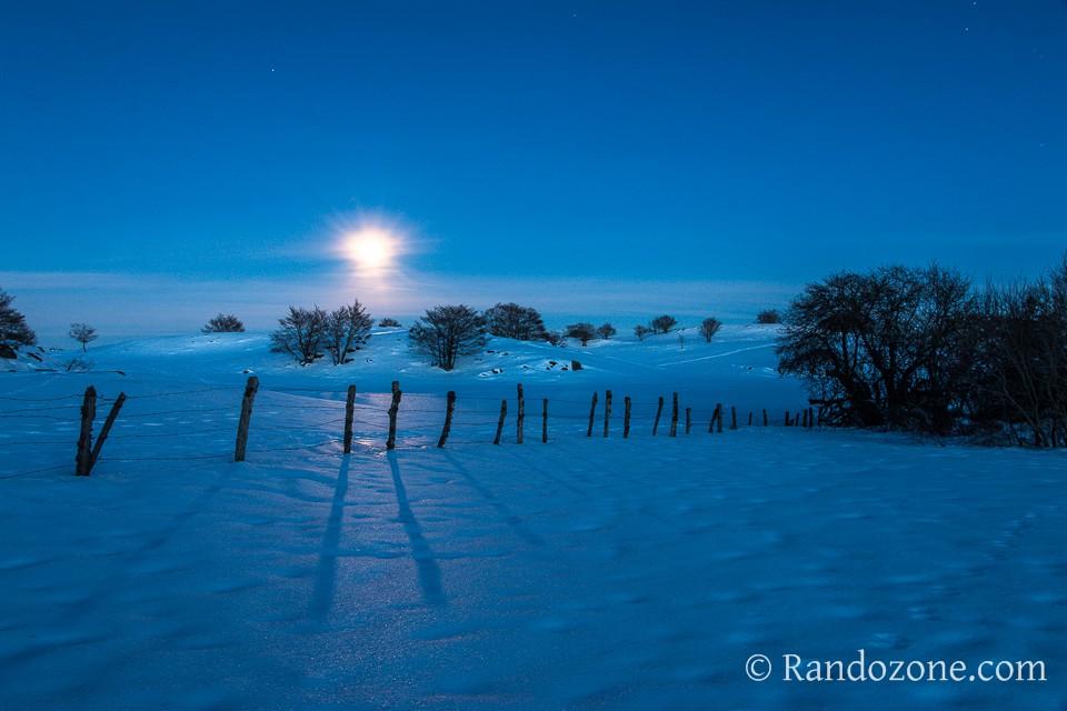 Lever de lune sur Aubrac