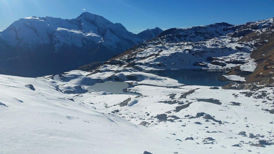 Les deux lacs Verdet vue d'en haut