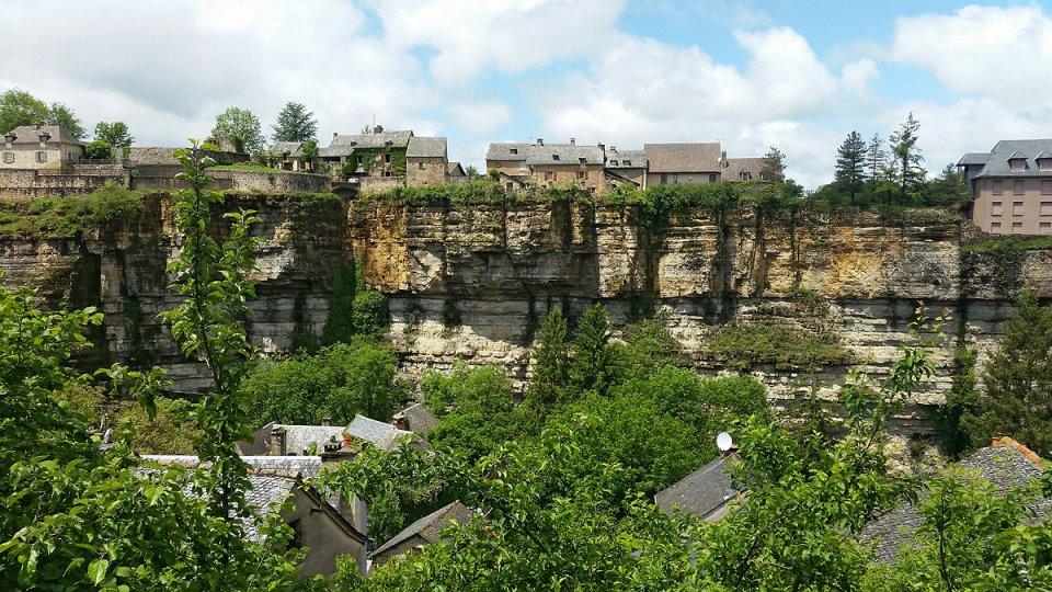 Premier aperçu du canyon de Bozouls