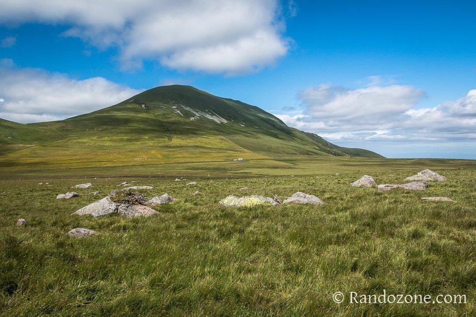 Début de la randonnée avec un superbe paysage