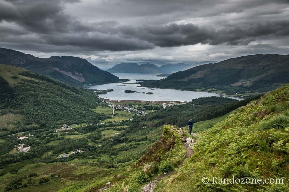 Beau point de vue sur le fjord
