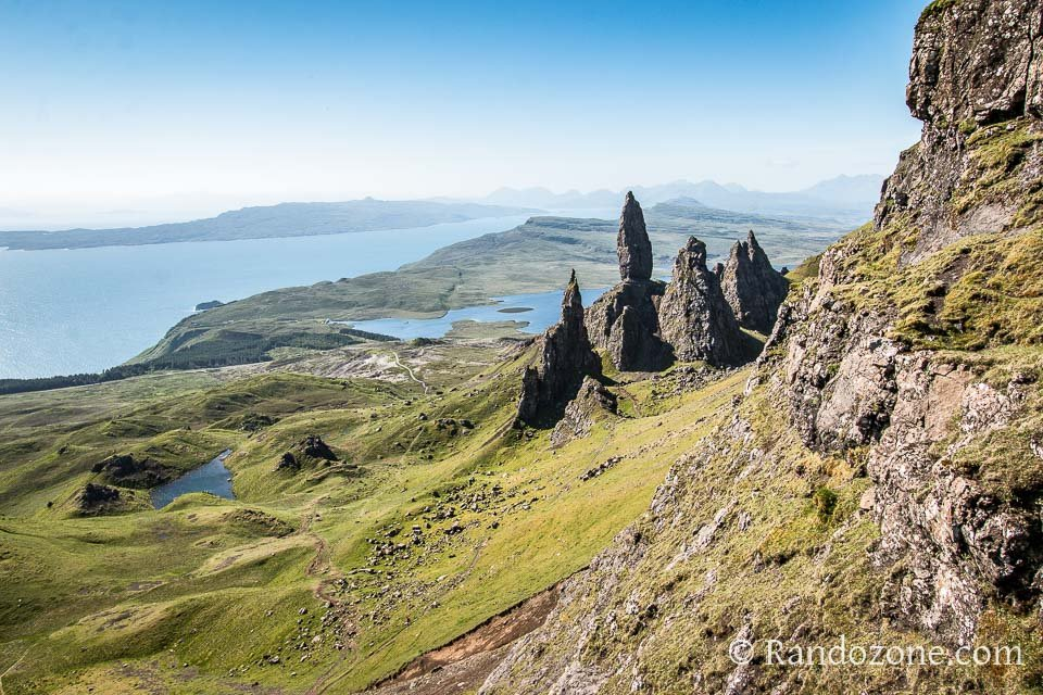 Au dessus de Old Man of Storr