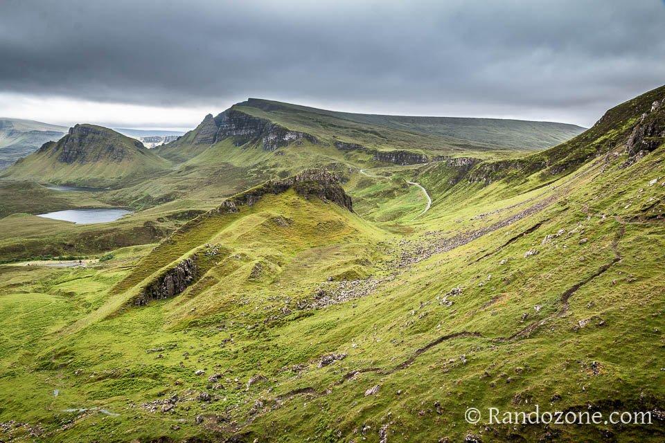 Superbe paysage du Quiraing sur l'île de Skye