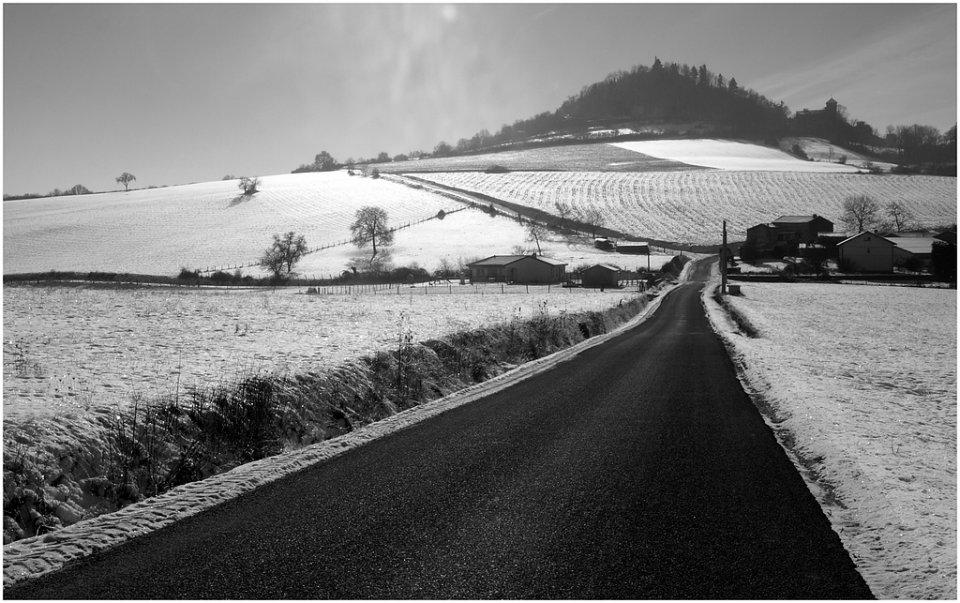 Usson ,l'hiver