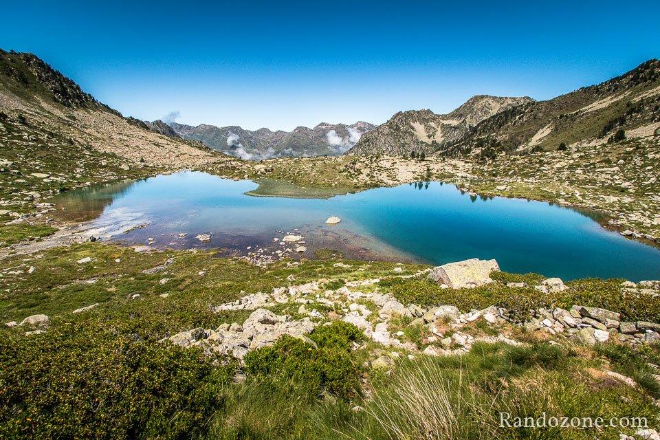 Au dessus du lac Blanc dans le Néouvielle