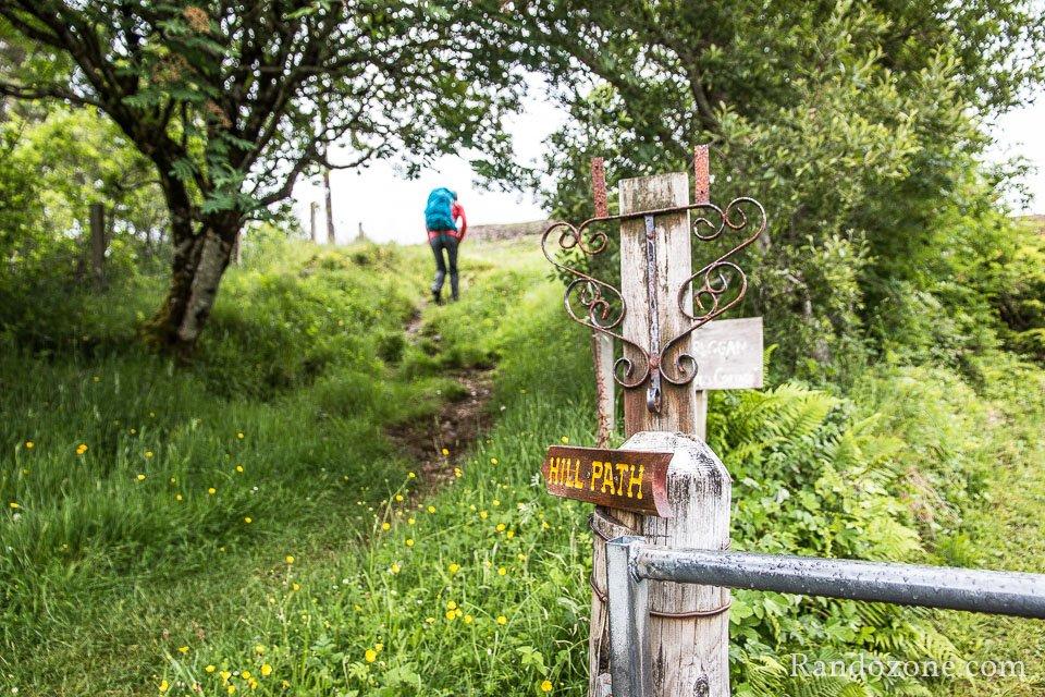 Début de la randonnée bien indiqué