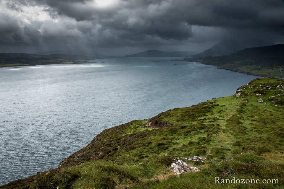 Superbe paysage quand on se rapproche de la falaise