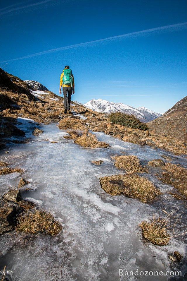 Attention à la glace dans certains passages