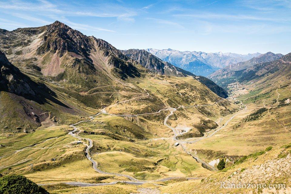 Vallée de Barèges depuis la piste