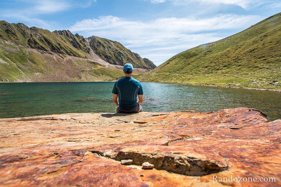 Au bord du lac d'Oncet