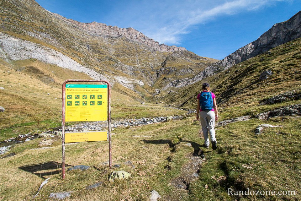 Nous entrons dans le parc national des Pyrénées