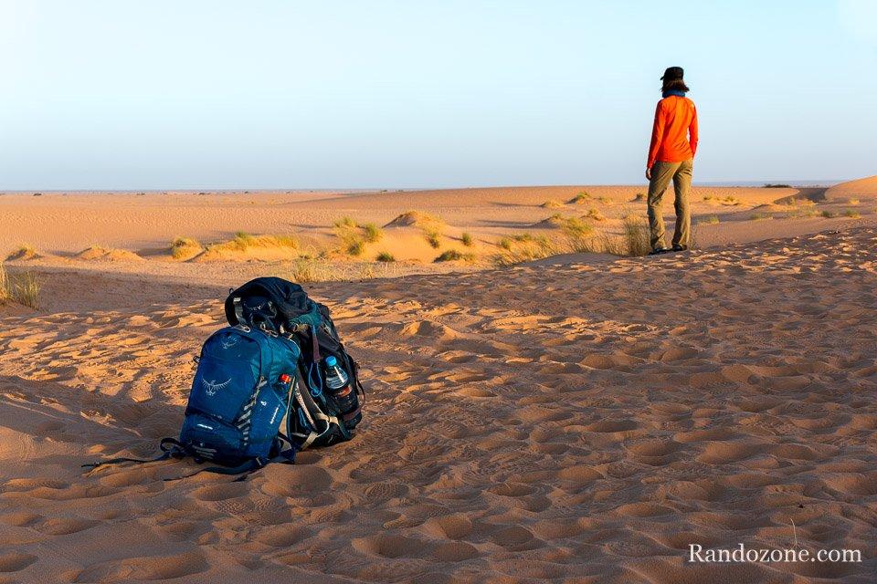 Matin du premier jour de trek en Mauritanie