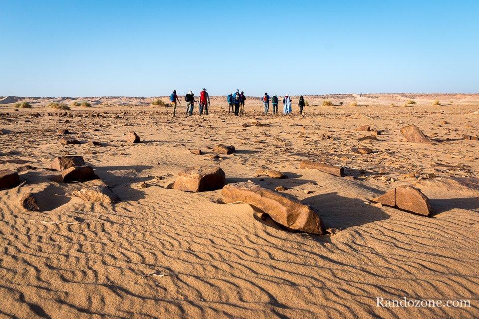 Randonnée dans le désert de Mauritanie